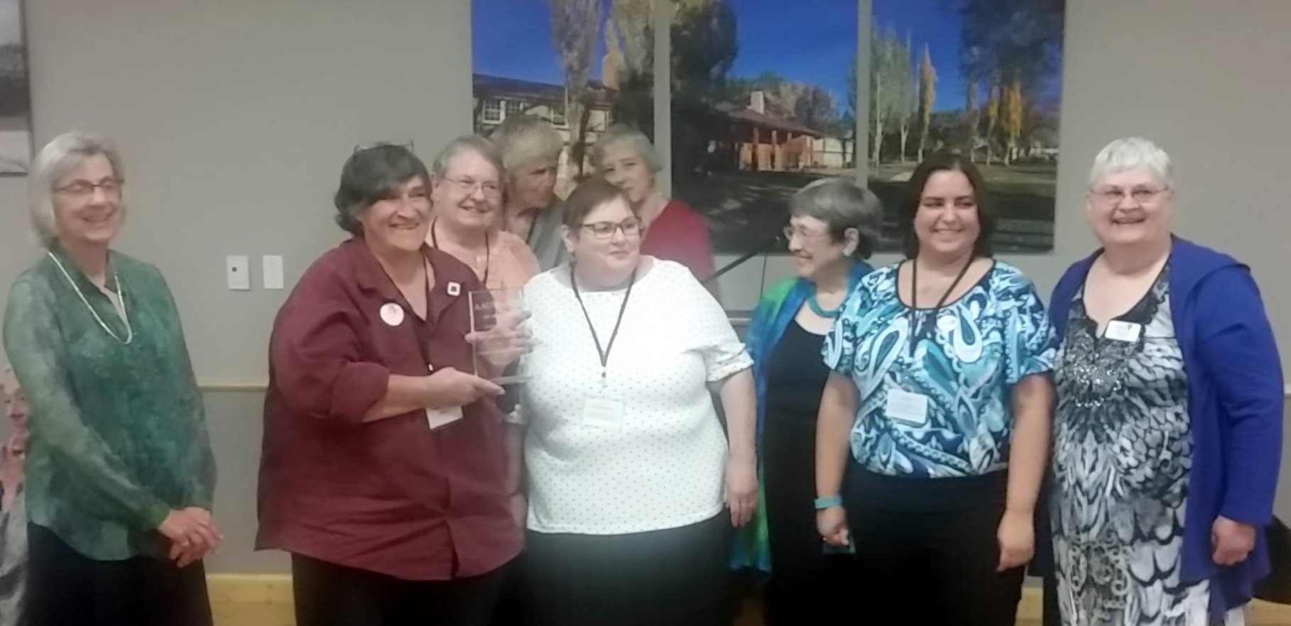 NMNWSE accepting AAUW-NM award