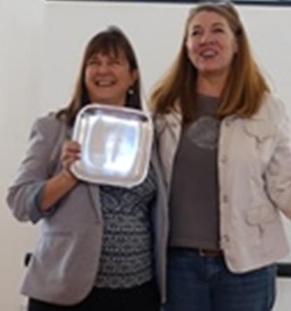 Bonnie accepting Impact award