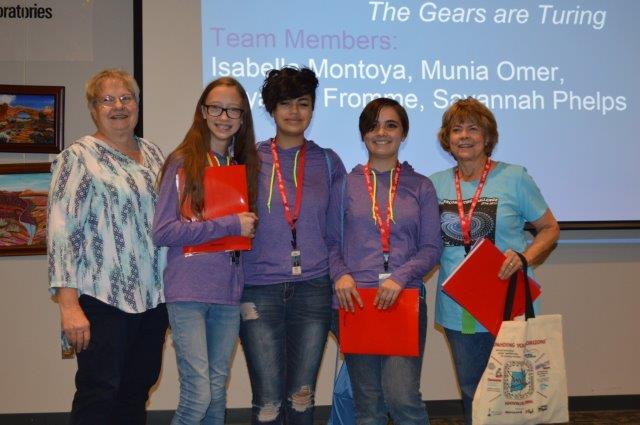 Team accepting award