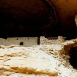 Photo of the ancient ruins of the Gila Cliff Dwellings National Monumen