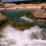 This is an image of Pedernales Falls in Texas.