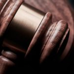 This is an image of a gavel that is used in court.