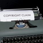 This is an image of a typewriter that says copyright claim.