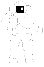This is an image of an astronaut suit drawing.
